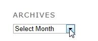 The Tsiyon.org Archieve month-year drop down menu.
