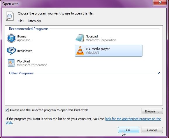 default program