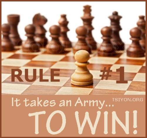 It takes an army to win!