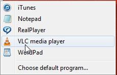 options or choose default
