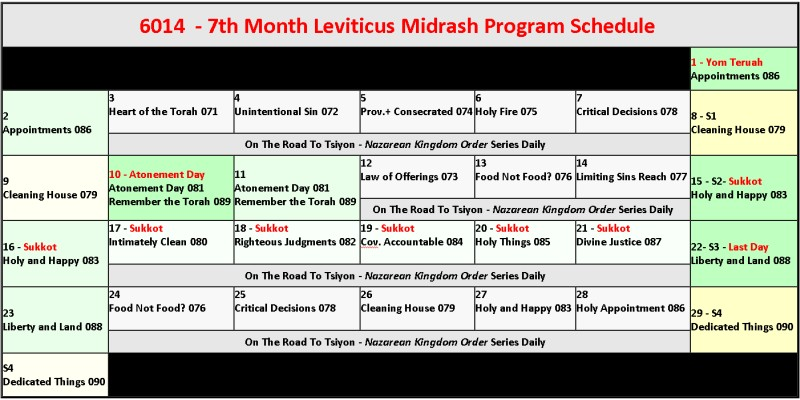 Life in Leviticus - All month!
