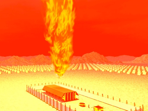 the pillar of fire over the camp of Israel